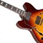Waldman - Guitarra Semiacustica Prince Flamish Lefty GHO_250L