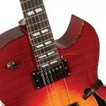 Waldman - Guitarra Semiacústica Royal Flamish Vertigo GHS_250 CV